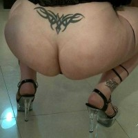 BBW Transsexual showing off her big fat ass