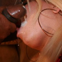 Tranny Monica Richard sucks phallus & gets jizzum on her face
